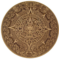 Jamieson Laser Aztec Calendar: MDF Engraved and Cut