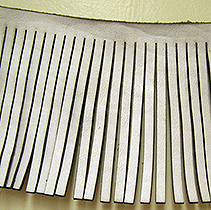 Jamieson Laser Fringe: Laser Cutting on Leather.