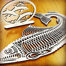 Jamieson Laser MDF Sea Creatures: Wood Cutting